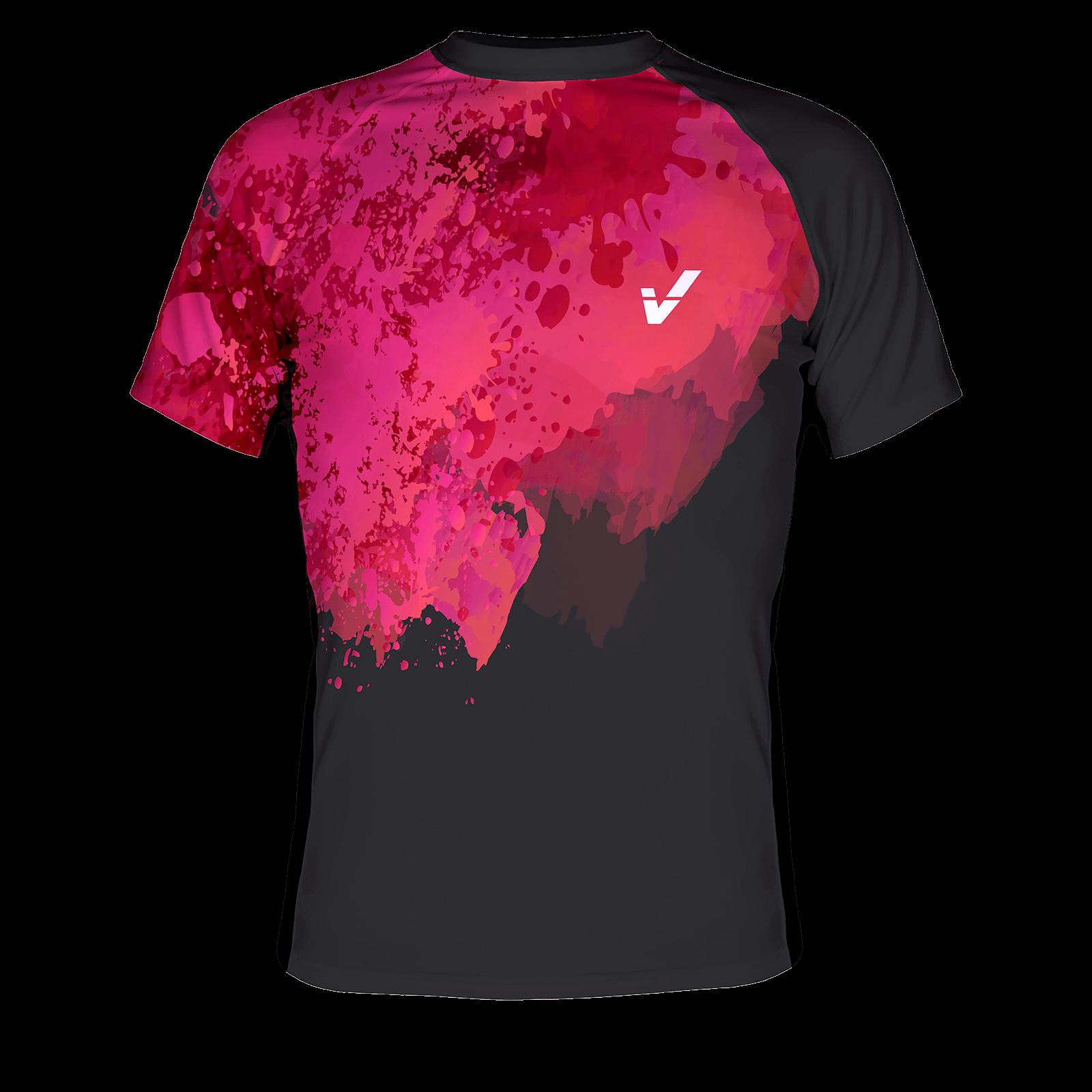 Koszulka męska PRINT różowa