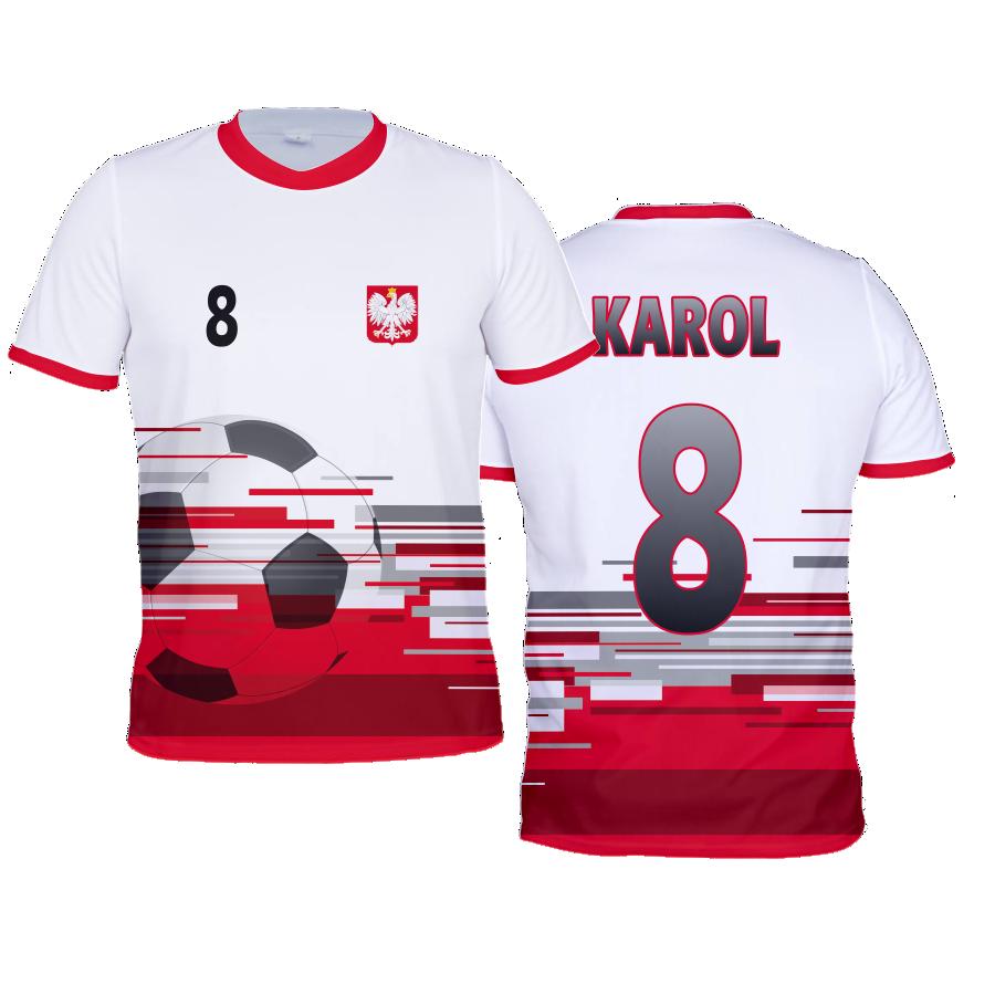 34c5cc5adc1c37 Koszulka piłkarska POLSKA piłka - vertiss.pl - własny napis i logo