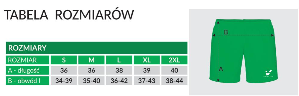 Komplet Rugby 4 tabela spodenki